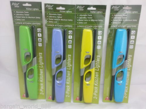 Mega_jumblesale x2 Bbq Kitchen Cooker Hob Fire Camping Lighters(random Colours Will Be Sent) Uk Mainland Delivery Only