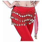 Fantastic Red Belly Dance Skirt Hip Scarf