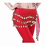 Fantastic Red Belly Dance Skirt Hip S…