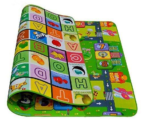MXTBY 200x180cm Bébé Kid Toddler Crawl Jouer Jeu Lettre Alphabet Mat Tapis De Pique-Nique Style Aléatoire