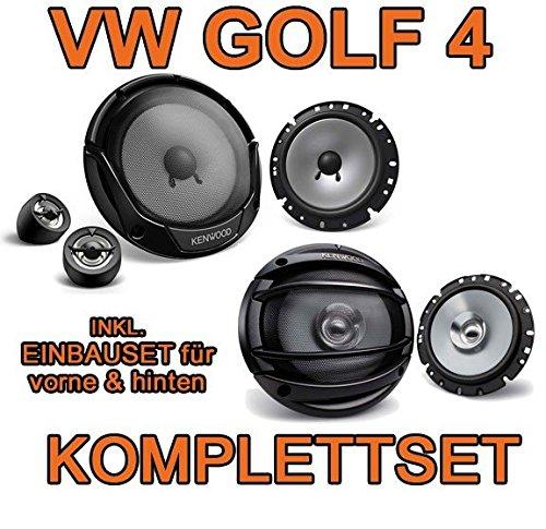 VW-Golf-4-KENWOOD-Lautsprecher-Komplettset-fr-vorne-hinten