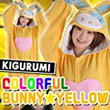 Japan Sazac Original Kigurumi Pajamas Halloween Costumes Sanrio Hello Kitty Colorful Bunny Yellow