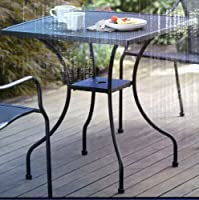 Commercial Home Wrought Iron Square 28'' Bistro Table with Center Hole for Umbrella Pole from Bistro