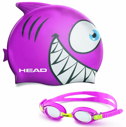 Mares Kinder Badekappe und Schwimmbrille Goggle Meteor Character