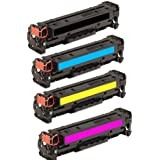 HI-VISION HI-YIELDS Compatible Toner Cartridge Replacement for Hewlett-Packard (HP) 128A CE320A CE321A CE322A CE323A (1 Black, 1 Cyan, 1 Yellow, 1 Magenta, 4-Pack)