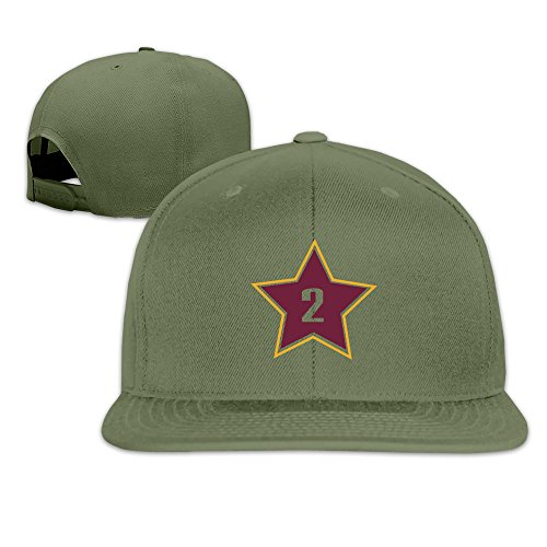 Basketball Cleveland Player #2 Solid Snapback Baseball Hat Cap One Size ForestGreen