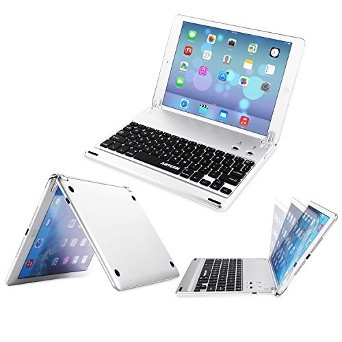 Click to buy Arteck Ultra-Thin Apple iPad Air 2 / 9.7-inch iPad Pro Bluetooth Keyboard Folio Case Cover with Built-In Stand Groove for Apple iPad Air 2 with 130 Degree Swivel Rotating-Silver - From only $29.97