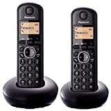 Panasonic KX-TGB212EB Digital Cordless Phone With LCD Display (Two Handset Pack) - Black
