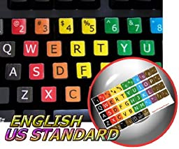 LEARNING LARGE LETTERING (UPPER CASE) ENGLISH COLORED KEYBOARD STICKERS