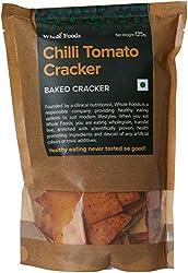 Whole Foods Baked Chilli Tomato Cracker, 125g