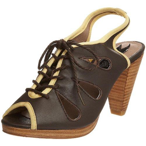Velvet Bee Women's Petal Heel Brown 10555 6 UK