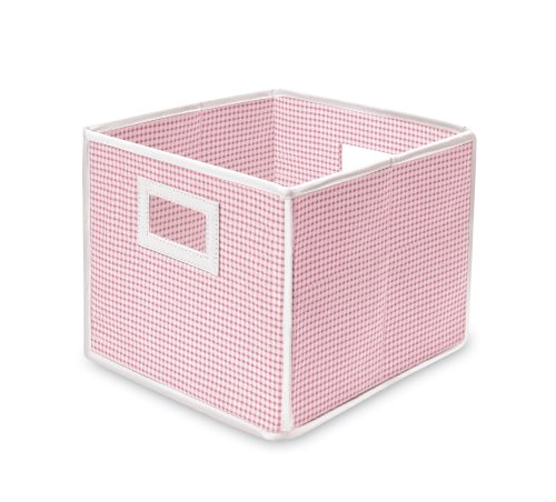 Badger Basket Folding Basket and Storage Cube, Pink