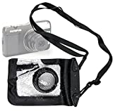DURAGADGET Compact Camera Case in Black for Olympus VG-120, VG-130, VG-170, VR-310, VR-320 & VR-340 - Premium Quality, Water-Resistant Pouch with Zoom Lens Compartment, Cross-Body Strap & Air-Locked Seals