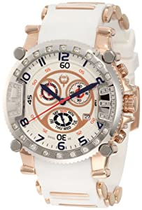Brillier Men's 02.3.4.4.13.10 Grand Master Tourer Signature Two-Tone White Rubber Watch from Brillier