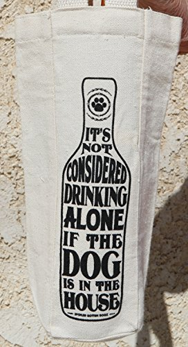 DOG LOVER HOLIDAY CHRISTMAS GIFT WINE BAG -