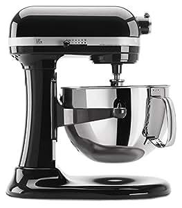 KitchenAid KP26M1XOB Professional 600 Series 6-Quart Bowl-Lift Stand Mixer, Onyx Black
