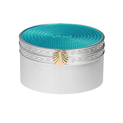 vera-wang-wedgwood-plaque-argent-love-treasures-coquillage-turquoise-avec-boite-cadeau