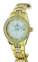 ToyWatch Ladies Stone Set Gold Tone Bracelet Watch ME29GD
