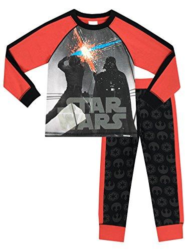 Star Wars - Pigiama a maniche lunga per ragazzi di - Si Illumina Al Buio - 7 a 8 Anni