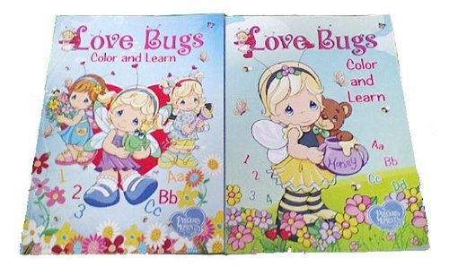2 Set Cute Love Bugs Coloring & Activity Books