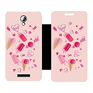 Phone Candy Designer Flip Cover with hi-res printed Vinyl sticker wrap-around for Lenovo A5000
