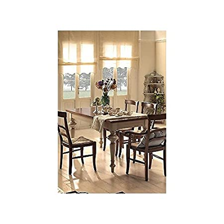 L 160 extending table Country Kitchen Provencal bicolore- Solid Wood – -as photos white and Ivory