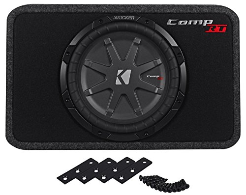 "Kicker 40Tcwrt104 10"" Tcomprt10 1200 Watts Peak/600 Watts Rms 4-Ohm Slim Profile Enclosed Subwoofer"