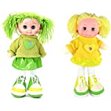 Tickles Green,Yellow Lovely Doll Stuffed Soft Plush Toy Love Girl 35 Cm