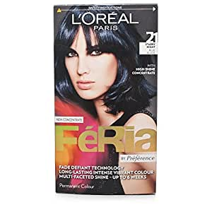 Amazoncom  L39Oreal Feria Ultra Lighting Permanent Hair Colors 21 Blue