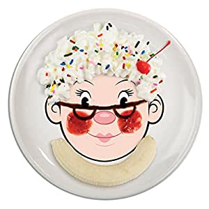 Fred & Friends Ms FOOD FACE Kids' Ceramic Dinner Plate