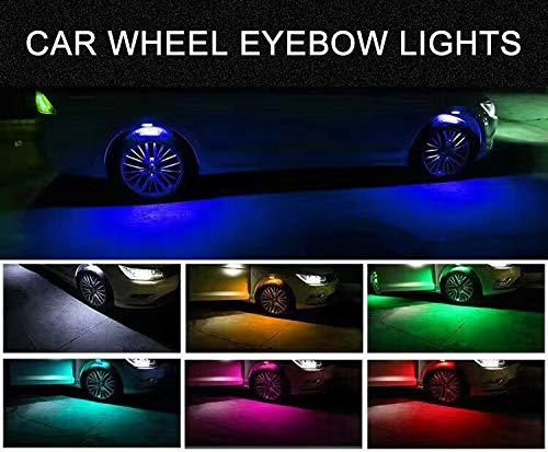 Waterproof Led Valve Cap Lamp for Car//Bike//Motorcycle CJRSLRB 4Pack Car Tire Valve Light Bike LED Wheel Lights Blue