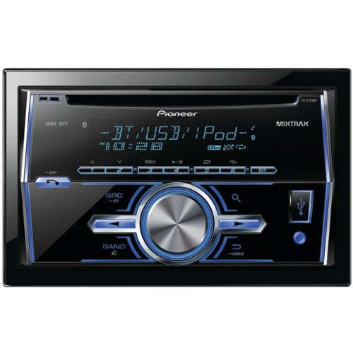 Pioneer Fh-X700Bt Double-Din In-Dash Cd Receiver With Mixtrax & Bluetooth(R)