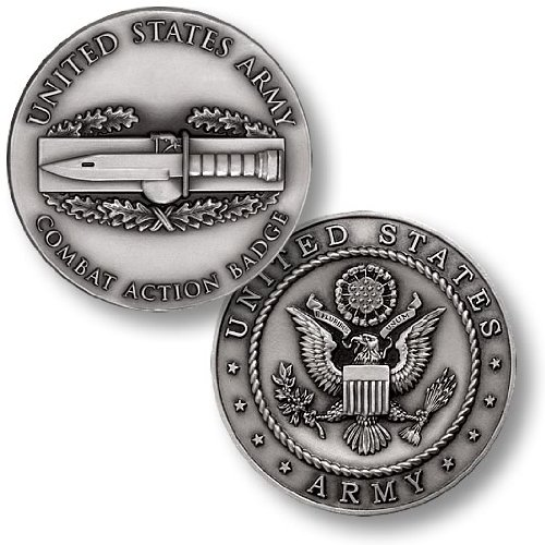 Combat Action Badge Challenge Coin