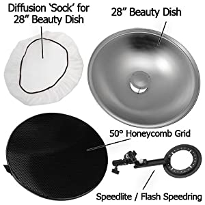 "28"" Beauty Dish Kit"