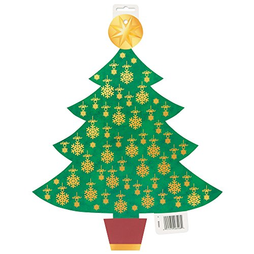 "16.5"" Paper Cut Out Golden Christmas Tree Decoration"