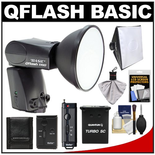 Review:  Quantum Qflash Trio Basic Model QF8CB Flash (for Canon) with Turbo SC Battery Pack + Softbox + Wireless Remote + Kit for Digital SLR Cameras