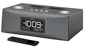 iHome iP88 Dual Dock Alarm Clock Radio for iPod and iPhone (Gray)