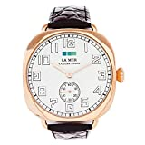 La Mer Collections Women's LMMOVW2047 Black Rose Oversized Vintage Watch