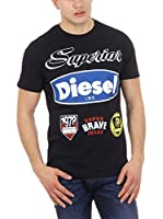 Diesel Camiseta Manga Corta T-Chrestos (Negro)