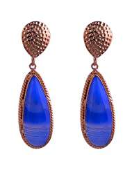 Clara Candy Collection Textured Metal Long Drop Earring