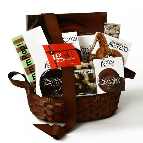 ig4U Chocolate and Snacks Gift Basket, 4-Pound image