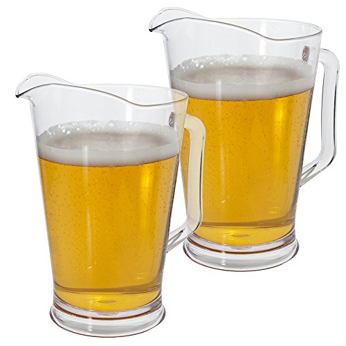2 Pack | Restaurant Quality Plastic 64oz Water/Beer Pitcher (Pitchers Of Beer compare prices)