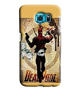 Omnam Dead Pool Printed Designer Back Cover Case For Sumsang Galaxy S7 EDGE