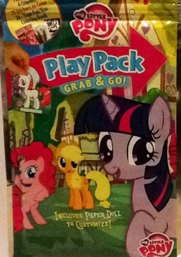 Play Pack Grab & Go! Mini Set~ My Little Pony ~ Paper Doll ~ Crayons ~ Coloring Stickers ~ Coloring Book front-913131