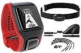 TomTom Multi-Sport Cardio GPS-Uhr -mit eingebautem Herzfrequenzmesser, Kadenz- /Geschwindigkeitsmesser und Höhenmesser; Sportuhr zum Laufen, Radfahren, Schwimmen