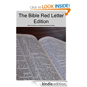 Bible Red Letter Edition - Bible Trivia Book - An Interactive Games Quiz Book