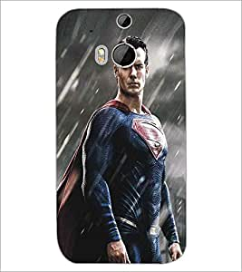 HTC ONE M8 SUPERHERO Designer Back Cover Case By PRINTSWAG