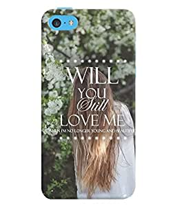 Printvisa Lonely Girl Love Quote Back Case Cover for Apple iPhone 5C