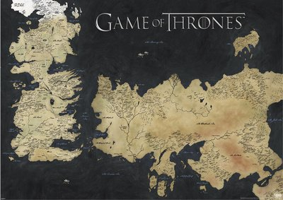 Game of Thrones Poster Pack Westeros e Essos 140 x 100 cm (3) Pyramid International