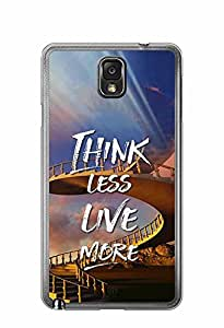 YuBingo Think Less. Live More Designer Mobile Case Back Cover for Samsung Galaxy Note 3